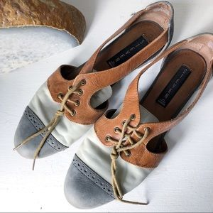 """GUC Steve Madden Leather """"Caril"""" Cut-Out Flats"""